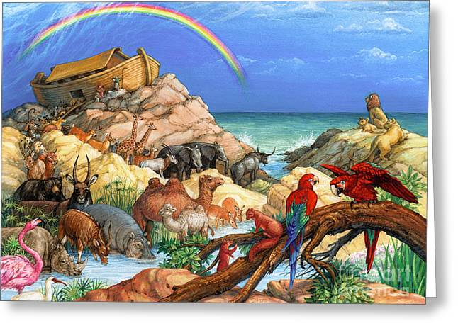 Noah And The Ark Greeting Card