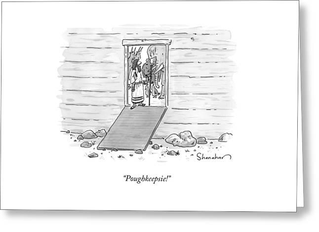 Noah At The Door Of His Arc Greeting Card