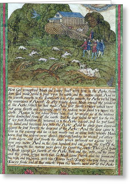 Noah Leaving The Ark, 1608 Greeting Card by Folger Shakespeare Library