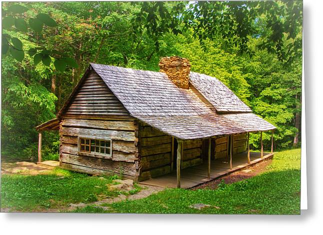 Noah Ogle Cabin Greeting Card by Carolyn Derstine