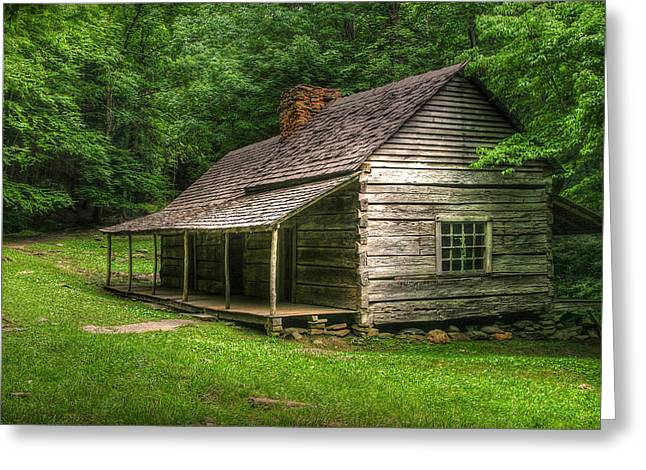 Noah Ogle Cabin Greeting Card by Cindy Haggerty