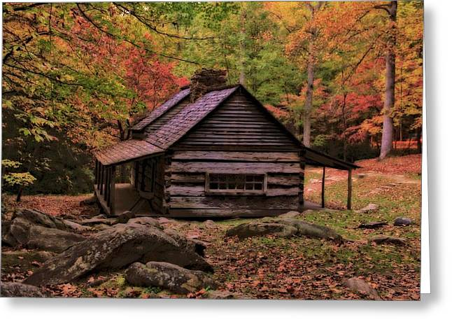 Noah Ogle Place In The Smoky Mountains Greeting Card by Dan Sproul