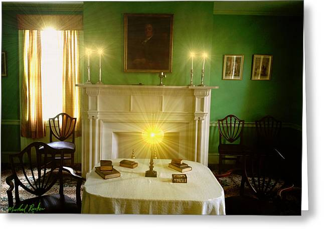 Noah Webster's Home Greeting Card by Michael Rucker