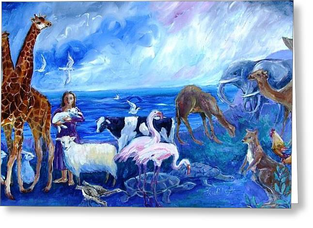 Noahs Ark - After The Flood  Greeting Card by Trudi Doyle