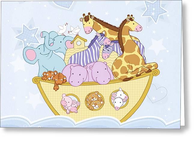 Noah's Ark Greeting Card by Amanda Francey