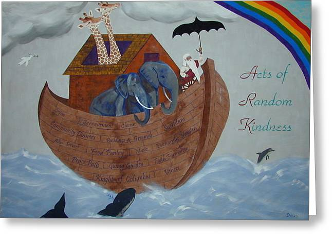 Noah's Ark Greeting Card by Chrissey Dittus
