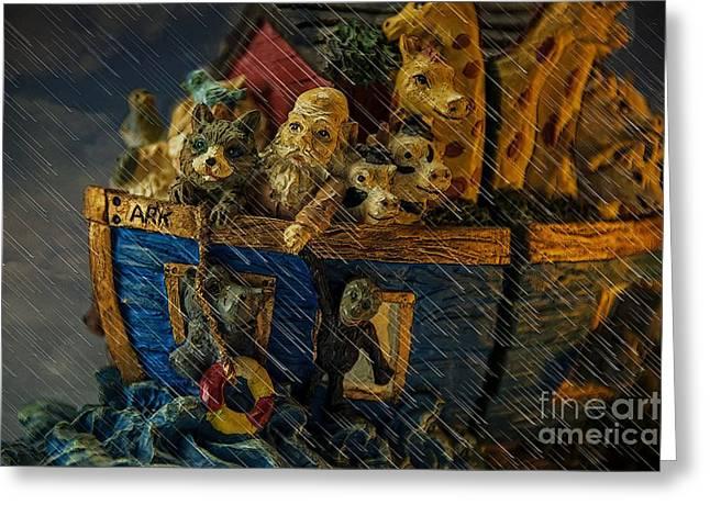 Noah's Ark Greeting Card by Donald Davis
