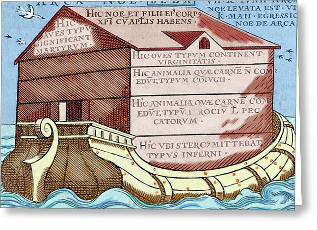 Noah's Ark, From The Book 'de Linguis Greeting Card