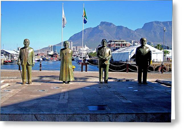 Nobel Square Cape Town South Africa Greeting Card by Jay Milo