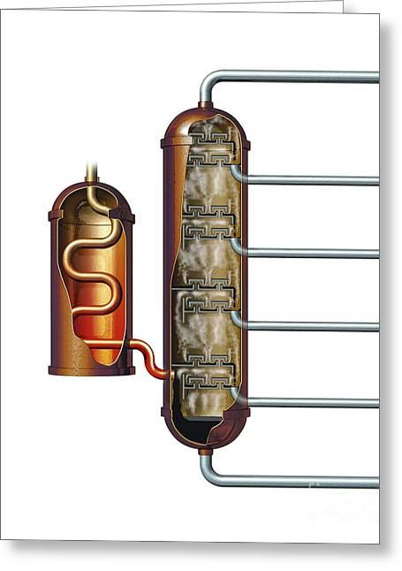 Nobel's Oil Refinery, Artwork Greeting Card by Mikkel Juul Jensen