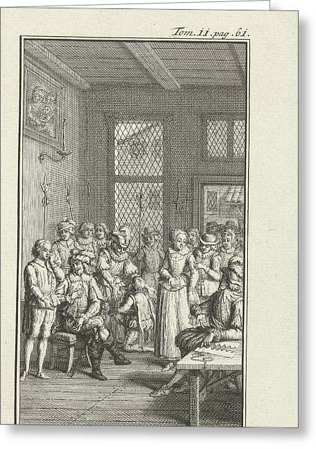 Nobles In Deliberation, Jacob Folkema Greeting Card by Jacob Folkema