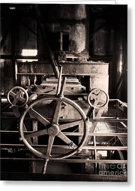 Nobody At The Wheel Greeting Card by Royce Howland