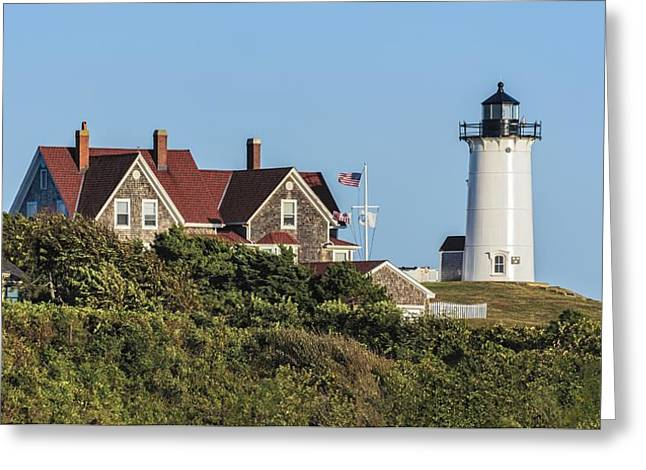Nobska Lighthouse Woods Hole Cape Cod Ma Greeting Card by Marianne Campolongo
