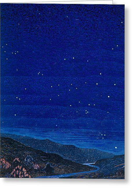 Nocturnal Landscape Greeting Card by Francois-Louis Schmied