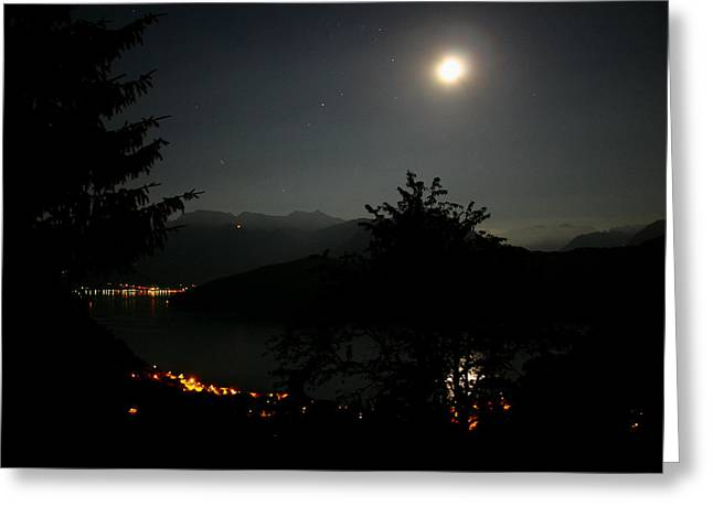 Nocturne In Switzerland Greeting Card