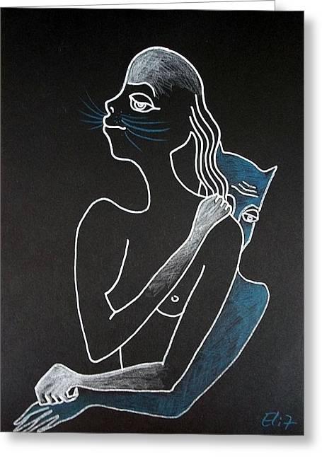 Nocturnes. Bestiary-3 Greeting Card by Elisheva Nesis