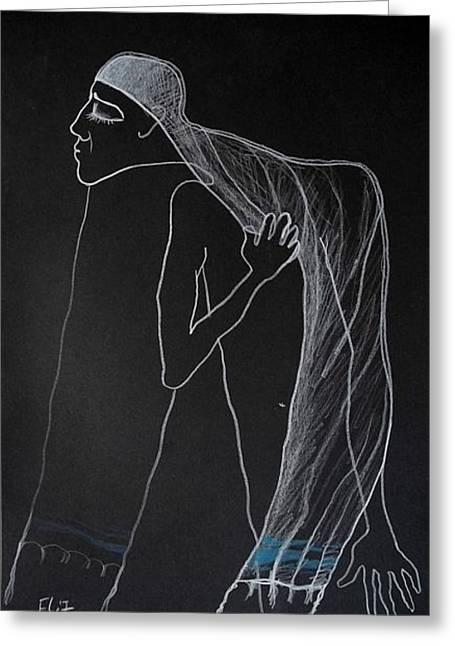 Nocturnes. Yom Kippur Jew Greeting Card by Elisheva Nesis