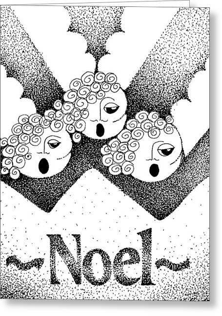Noel Angels Greeting Card by Joy Bradley