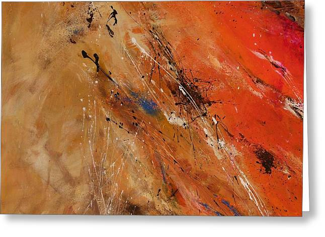 Noise Of The True Feelings - Abstract Greeting Card by Ismeta Gruenwald