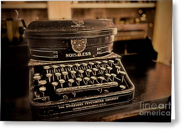 Noiseless Typewriter Greeting Card by David Arment