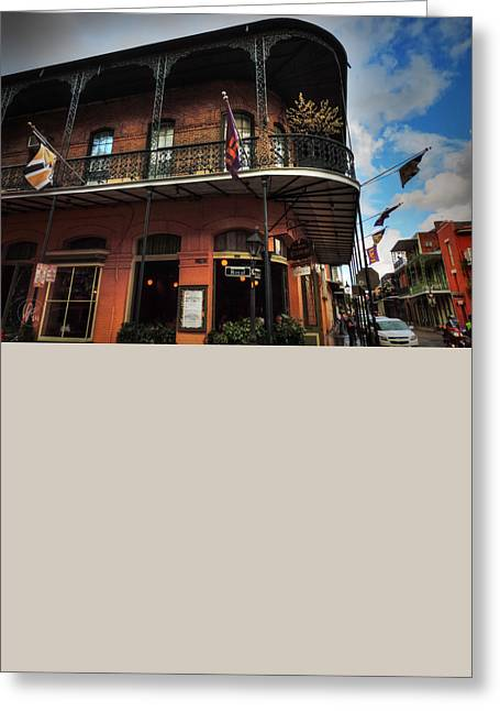 Nola - French Quarter 005 Greeting Card by Lance Vaughn