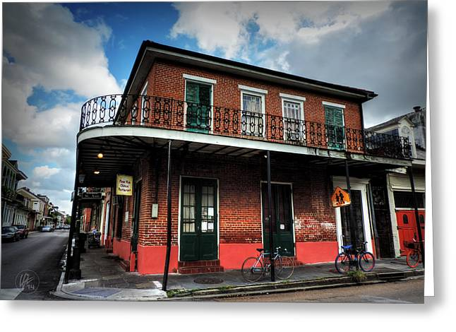 Nola - French Quarter 007 Greeting Card by Lance Vaughn