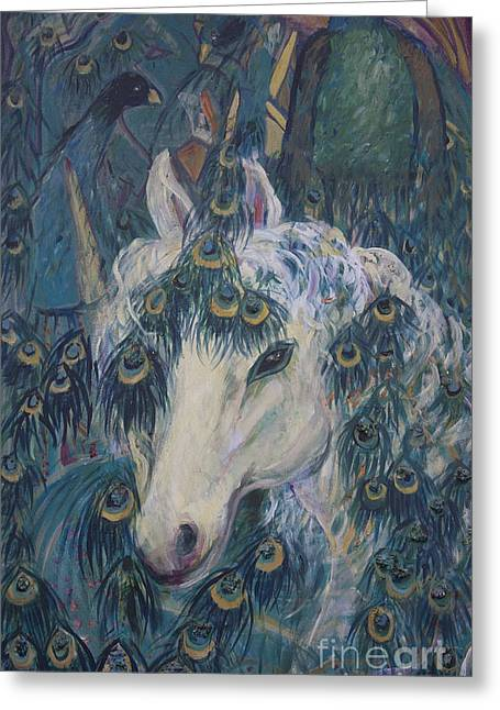 Nola's Unicorn Greeting Card
