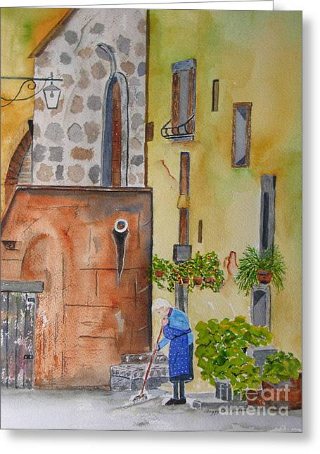 Nonna Greeting Card by Peggy Dickerson
