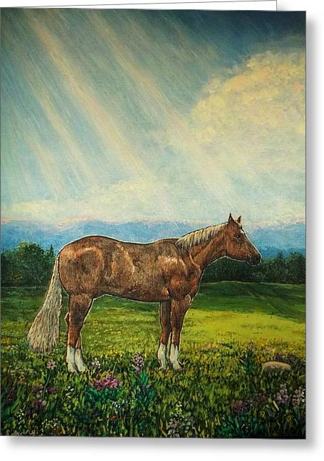 Noon Day Repose Greeting Card by Sharon Avery