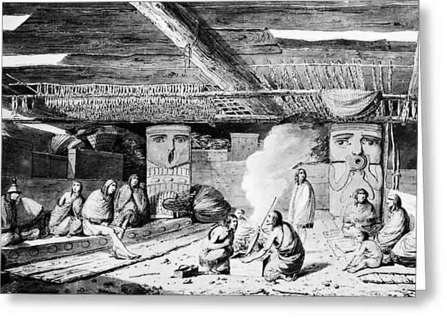 Nootka Dwelling, 1778 Greeting Card