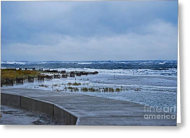 Nor Easter Greeting Card by Skip Willits