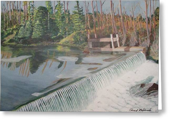 Nora Mill Waterfall Greeting Card