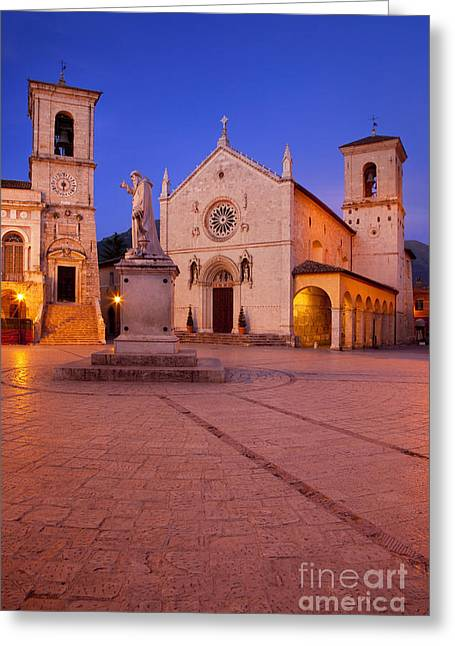 Norcia Umbria Greeting Card by Brian Jannsen