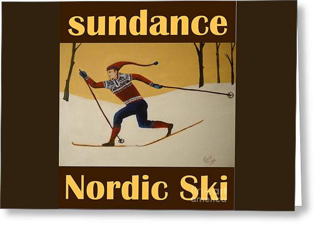 Nord Ski Poster Greeting Card