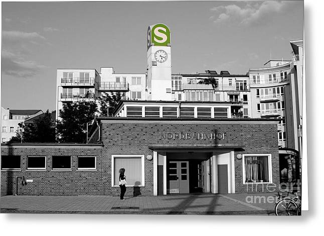 Greeting Card featuring the photograph Nordbahnhof Station In Berlin by Art Photography