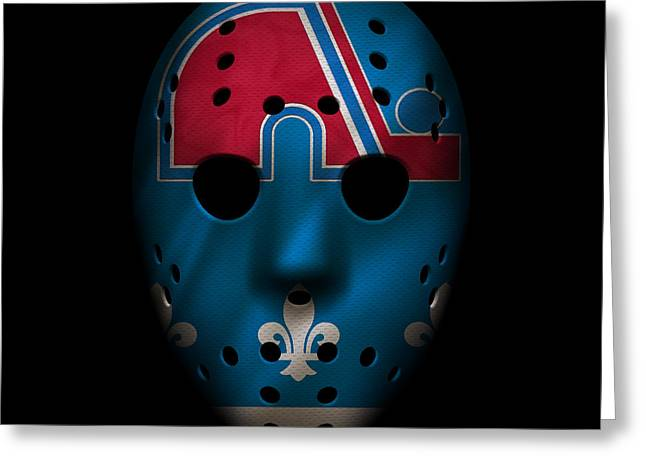 Nordiques Jersey Mask Greeting Card