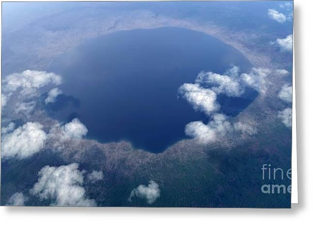 Nordlinger Ries Impact Crater, Artwork Greeting Card