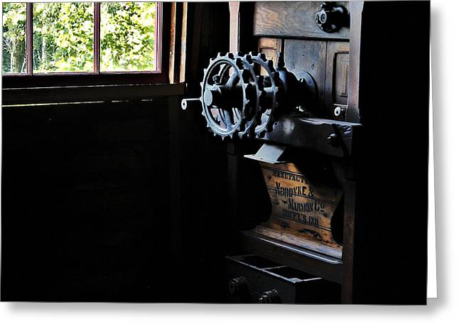 Greeting Card featuring the photograph Nordyke Marmon Grind Me A Pound by Lee Craig