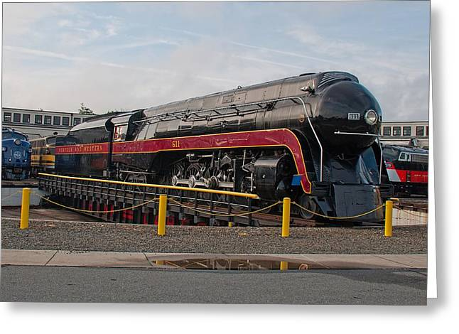 Norfolk And Western Class-j 611 Greeting Card by John Black