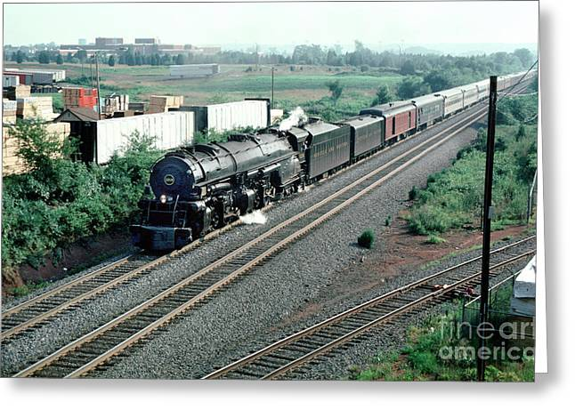 Norfolk And Western Nw 1218 Greeting Card by Wernher Krutein