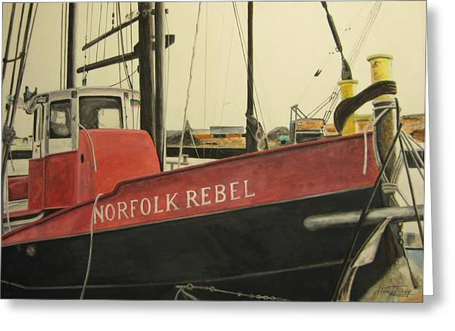 Norfolk Rebel Greeting Card