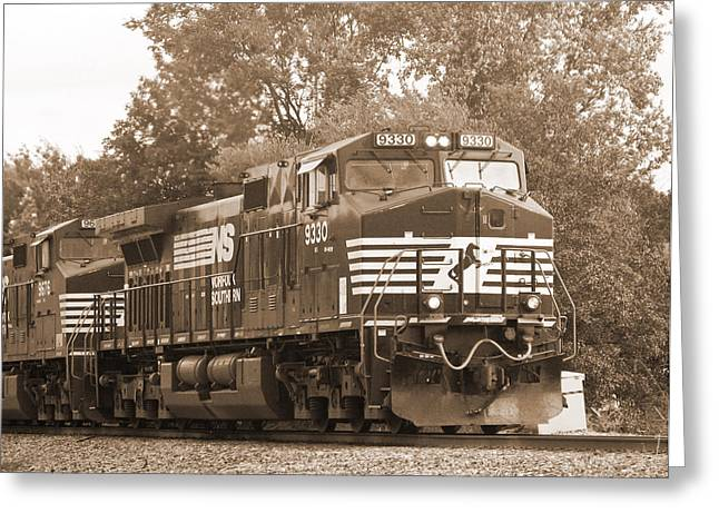 Norfolk Southern Freight Train Greeting Card