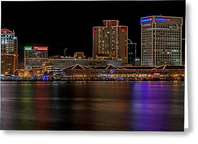 Norfolk Virginia Skyline Greeting Card by Jerry Gammon