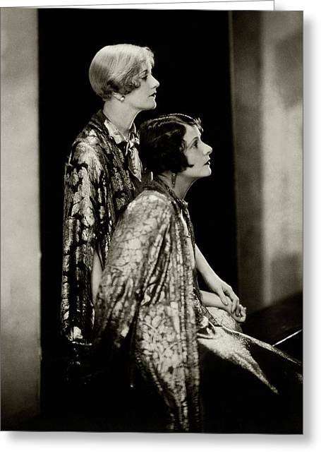 Norma And Constance Talmadge Greeting Card by Edward Steichen