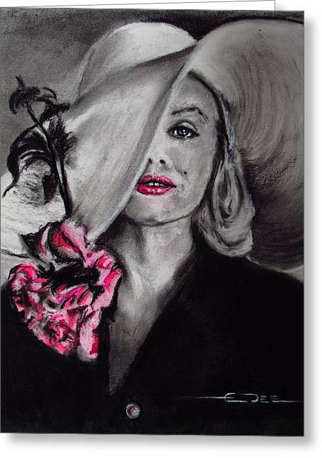 Norma Jean Greeting Card by Eric Dee