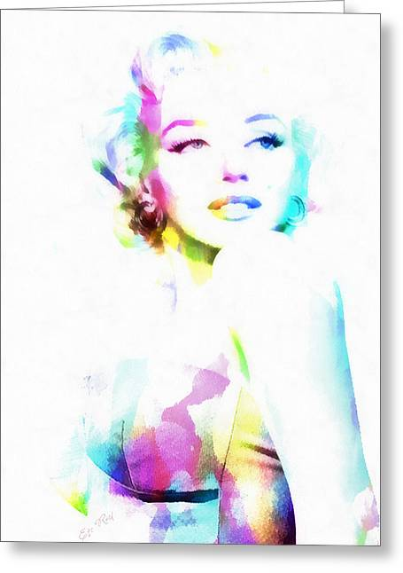 Norma Jeane In Watercolor Greeting Card