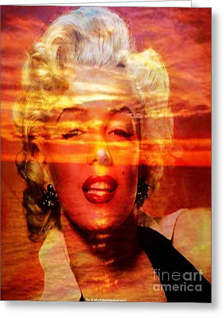 Norma Jeane Mortenson Greeting Card by PainterArtist FIN