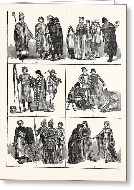 Norman Costumes Of The Eleventh And Twelfth Centuries 1 Greeting Card by English School