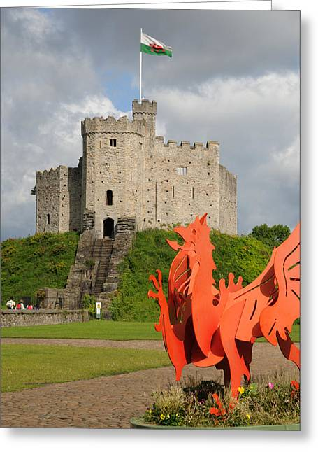 Norman Keep Cardiff Castle Greeting Card by Jeremy Voisey