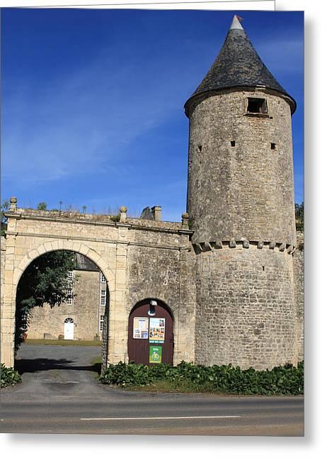 Norman Manor Defencive Tower Greeting Card by Aidan Moran